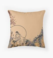 Rural Chinese Scene Throw Pillow