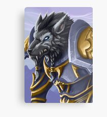 Veteran Worgen Warrior Metal Print