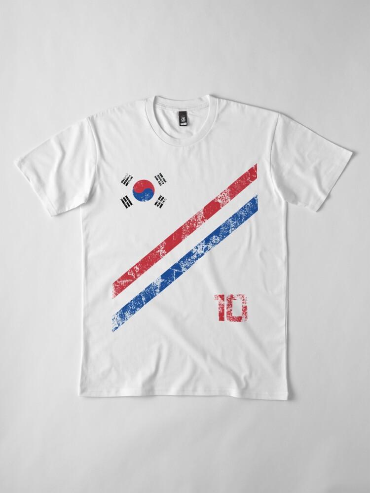 Alternate view of South Korea World Cup Soccer Short-Sleeve T-Shirt Football Korean Style Shirt Seoul Flag BTS Tae Kwon Do KPOP K-POP Premium T-Shirt
