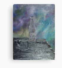 Still Life - Wine, goblet, smoke Canvas Print