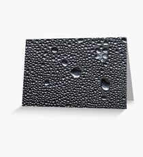 Many little water drops due to condensation on a plastic bottle curved surface Greeting Card