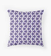Ultra Violet Purple Bell Flower Meadow Bellflower (to Match Set) Throw Pillow