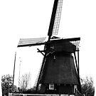WindMill in Holland - B&W by Yvon van der Wijk