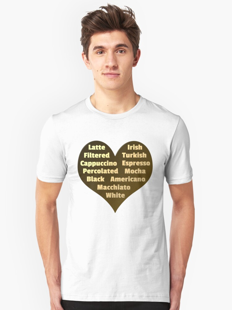 Love for Coffee Unisex T-Shirt Front