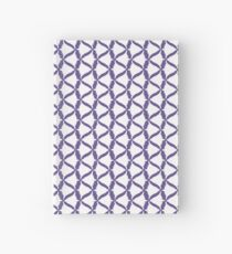White Bell Flower Bellflower Meadow on Ultra Violet (Purple to Match Set) Hardcover Journal