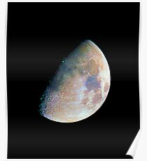 The moon in colour Poster