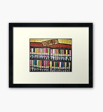 """Skewed Candy Store"" Framed Print"