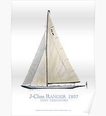 J-Class Ranger 1937, Tony Fernande Poster