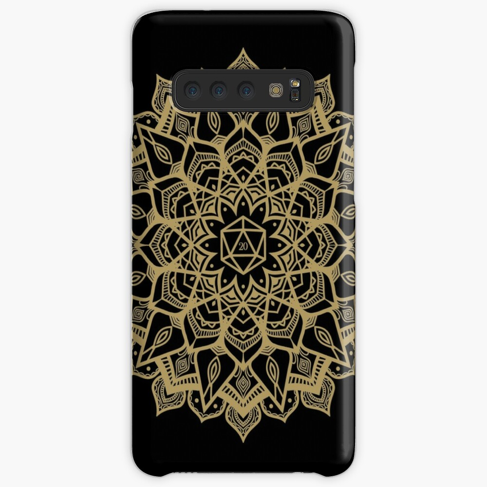 D20 Dice Critical Hit Mandala Design Case & Skin for Samsung Galaxy