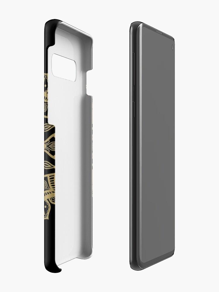 Alternate view of D20 Dice Critical Hit Mandala Design Case & Skin for Samsung Galaxy