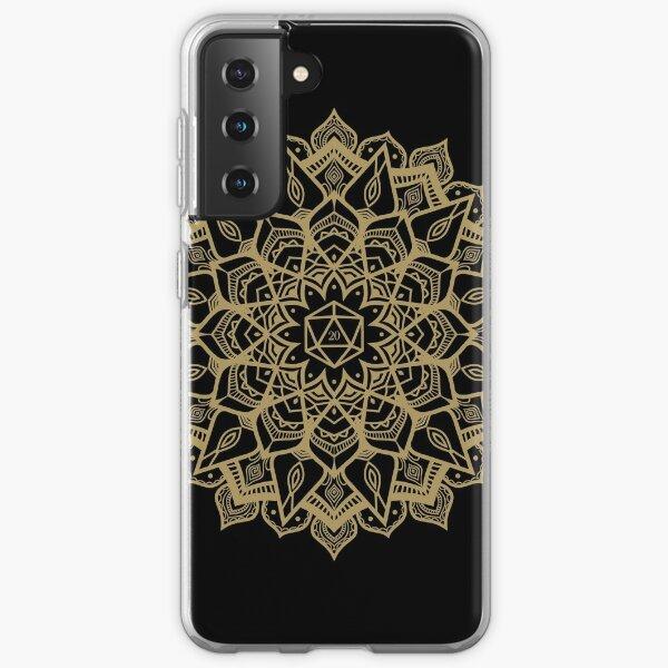 D20 Dice Critical Hit Mandala Design Samsung Galaxy Soft Case