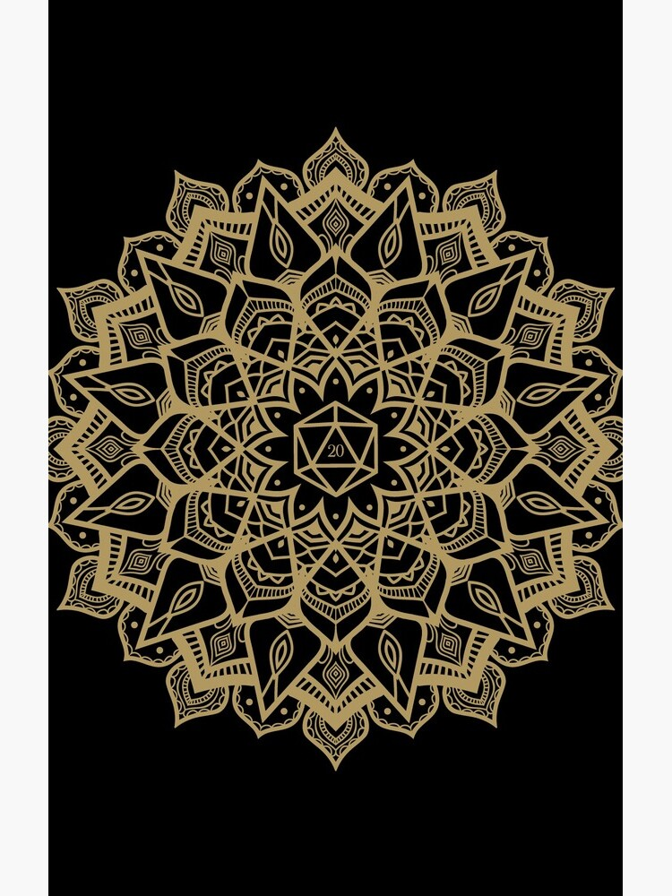 D20 Dice Critical Hit Mandala Design by pixeptional