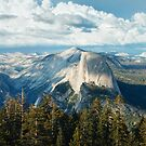 Half Dome and High Sierra from Sentinel Dome by Hotaik  Sung