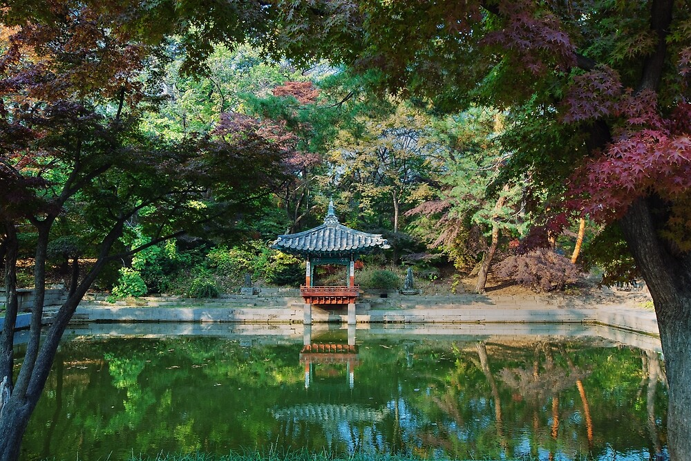 "Secret Garden: ""Pond At Secret Garden At Changdeokgung Palace, Seoul "" By"