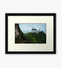 Neuschwanstein Castle Covered in Overcast Day Framed Print