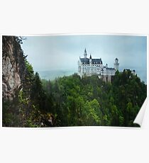 Neuschwanstein Castle Covered in Overcast Day Poster