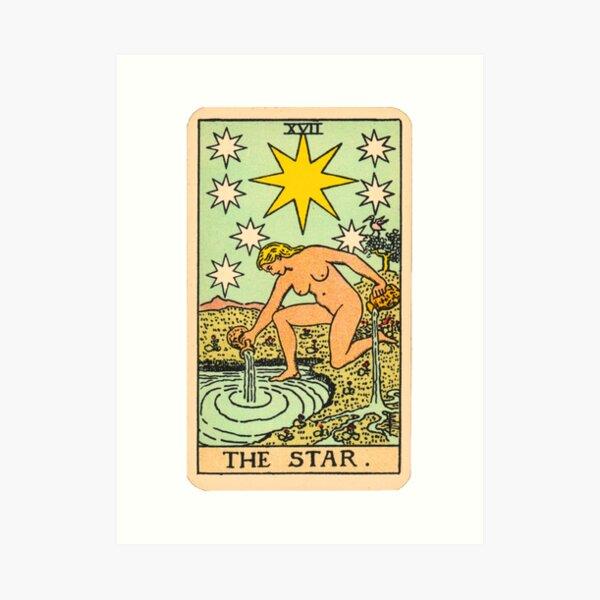 Tarot - The star Art Print