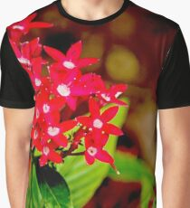 The Red Star Flower Graphic T-Shirt