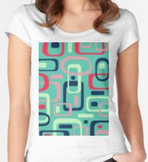 Retro Pattern 002 Women's Fitted Scoop T-Shirt