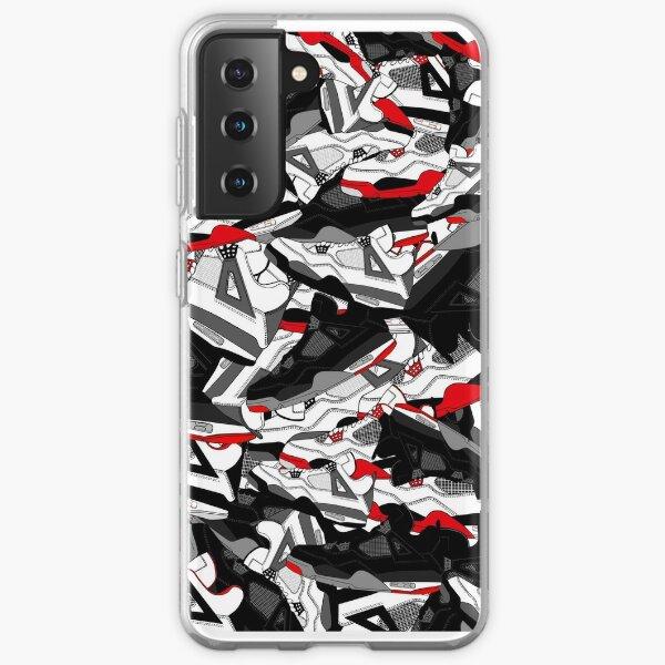 Jordan 4 ilustraciones Funda blanda para Samsung Galaxy