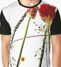 The Beautiful Red Flower Graphic T-Shirt