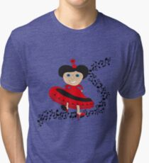 Happy lady  Tri-blend T-Shirt