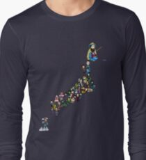 Sengoku Map of Japan Long Sleeve T-Shirt