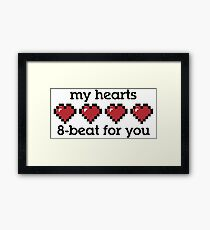 My Hearts 8-beat For You Framed Print