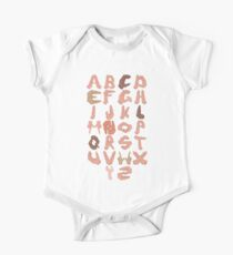 Alphabet with Hands One Piece - Short Sleeve