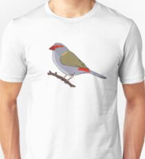 Red-Browed Finch Unisex T-Shirt