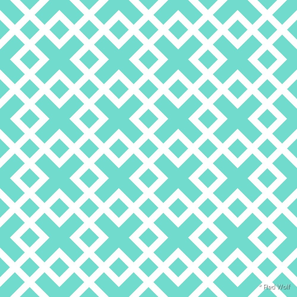Geometric Pattern: Weave: Light Blue by * Red Wolf