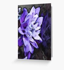 Purple Flower and Reflection Greeting Card