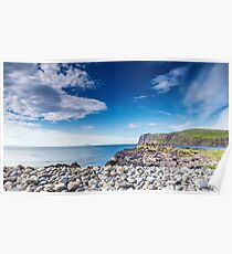 Rocky Beach of Glendale at Bright Sunny Day Poster