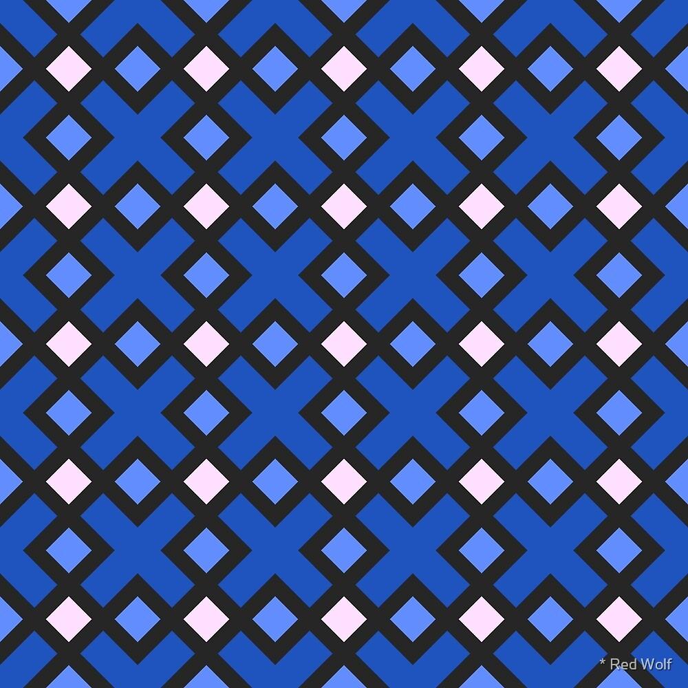 Geometric Pattern: Weave: Blue by * Red Wolf