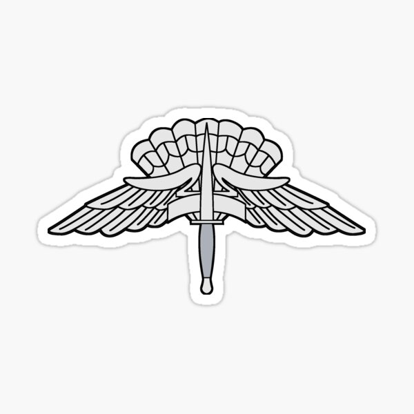 Military Freefall Parachutist Badge (USAF - US ARMY) Sticker