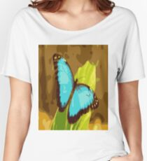 Blue Butterfly Women's Relaxed Fit T-Shirt