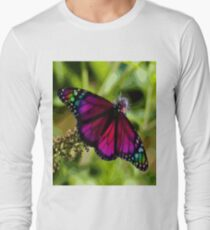 Violet butterfly Long Sleeve T-Shirt