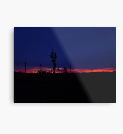 Sunset with a Stripe Metal Print