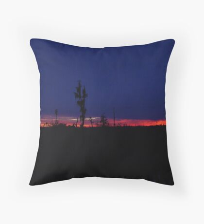 Sunset with a Stripe Throw Pillow