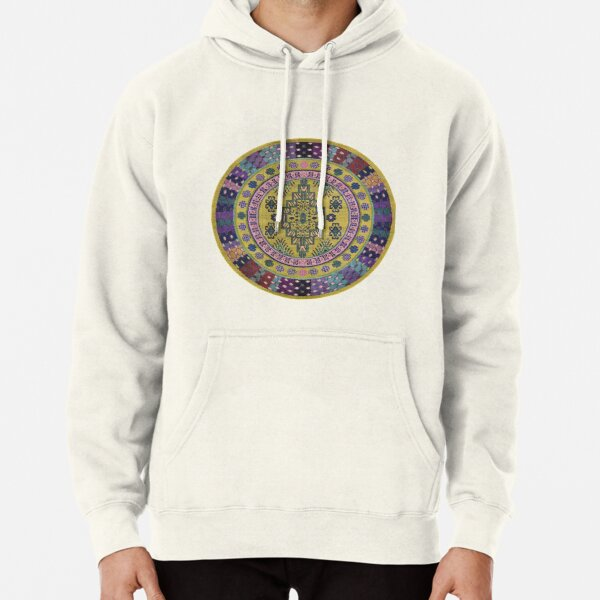 Pattern, ornament, embroidery, carpet, knitting, weaving, design Pullover Hoodie