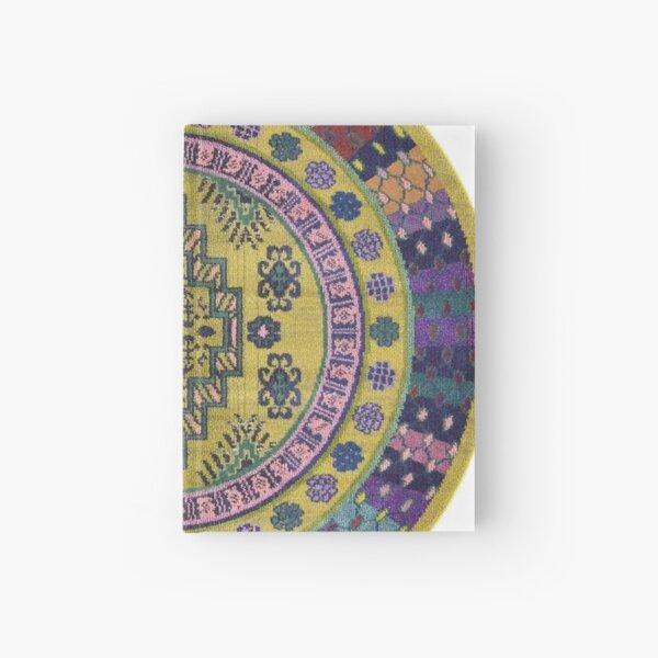 Pattern, ornament, embroidery, carpet, knitting, weaving, design Hardcover Journal