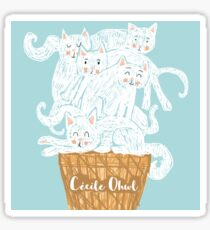 A ice-cats cream Sticker