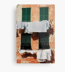 Washing, Vernazza Metal Print