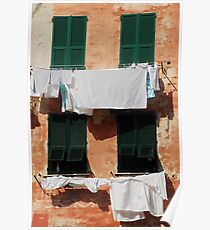 Washing, Vernazza Poster