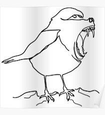 Baboon or bird Poster