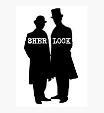 Detective and Doctor Photographic Print