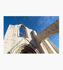 Silent Witness - Carmo Convent Roofless Ruin in Lisbon Portugal Photographic Print