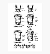 Coffee infographics set  Photographic Print