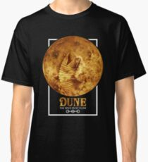 Dune - The Spice Must Flow (Sandworm - Planet) Classic T-Shirt