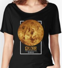 Dune - The Spice Must Flow (Sandworm - Planet) Women's Relaxed Fit T-Shirt